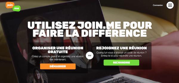 Outil gratuit webinaire Join.me