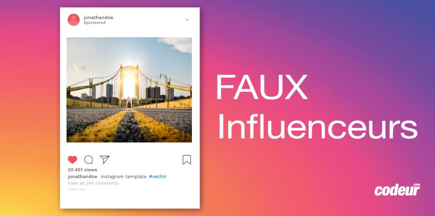 Instagram faux influenceurs