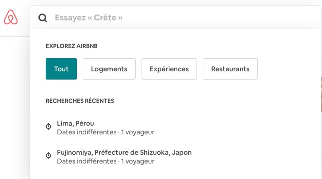 suggestions personnalisées airbnb