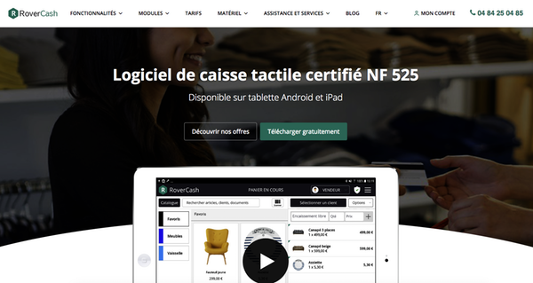 Application gratuit caisse RoverCash