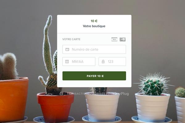 Page paiement PayPlug