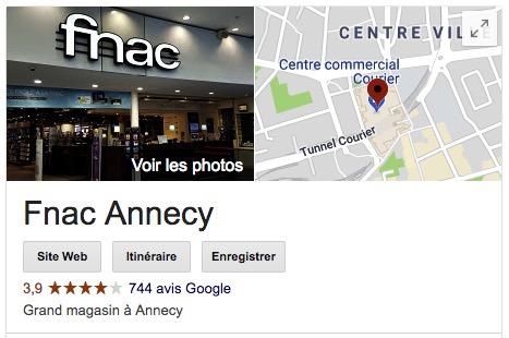 Avis google Fnac