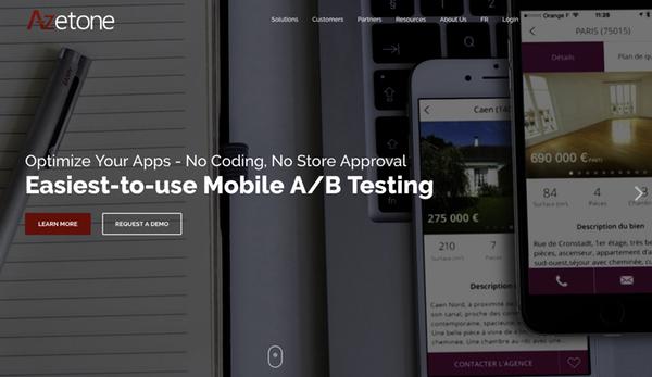 Azetone AB testing app