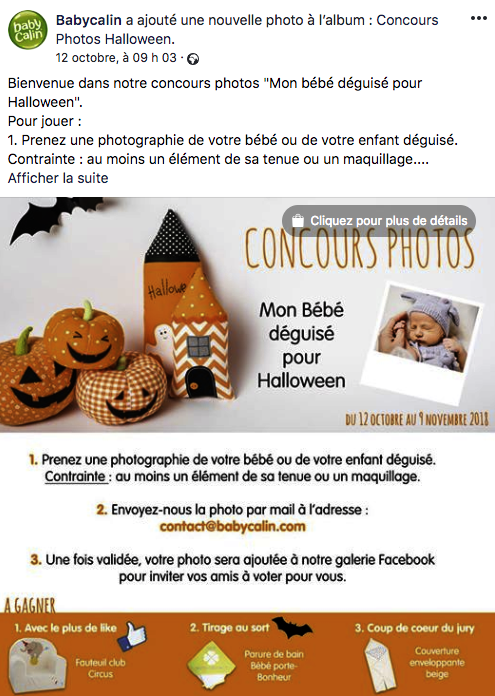 Concours photos costumes Halloween