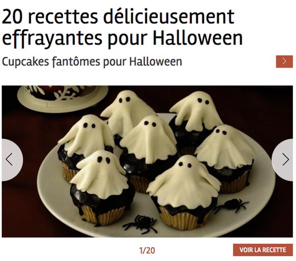 Contenu site web Halloween