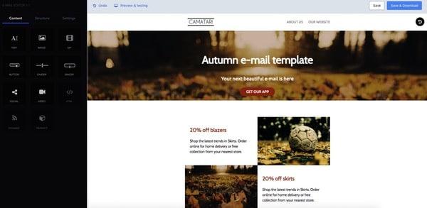 Email builder gratuit Topol