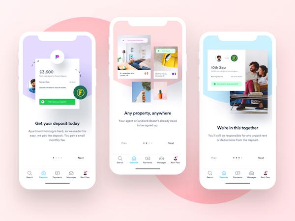 UX / UI application mobile