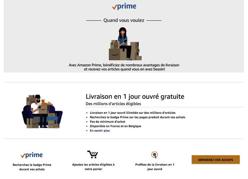 Amazon Prime livraison gratuite