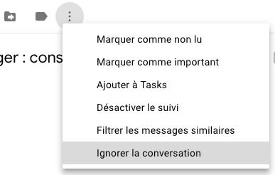 Ignorer conversation