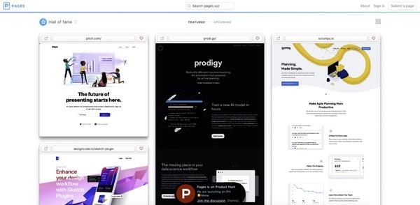 Pages web design