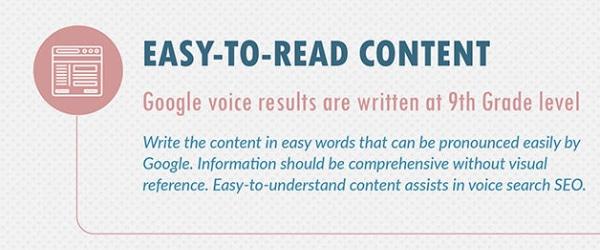 Contenu facile à lire