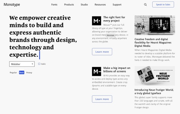 Landing page interactive