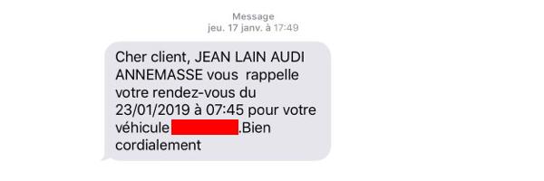 SMS rendez-vous