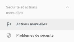 actions manuelles Google