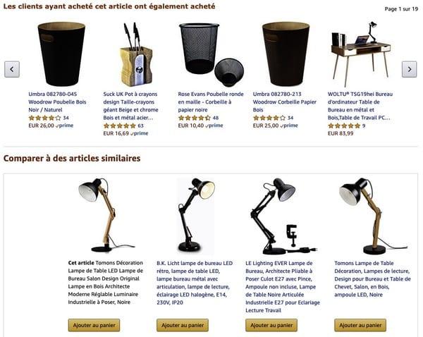 Amazon produits similaires achetés
