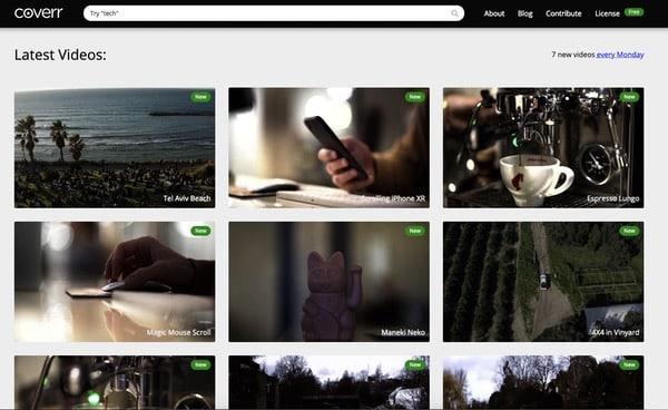 Coverr vidéos