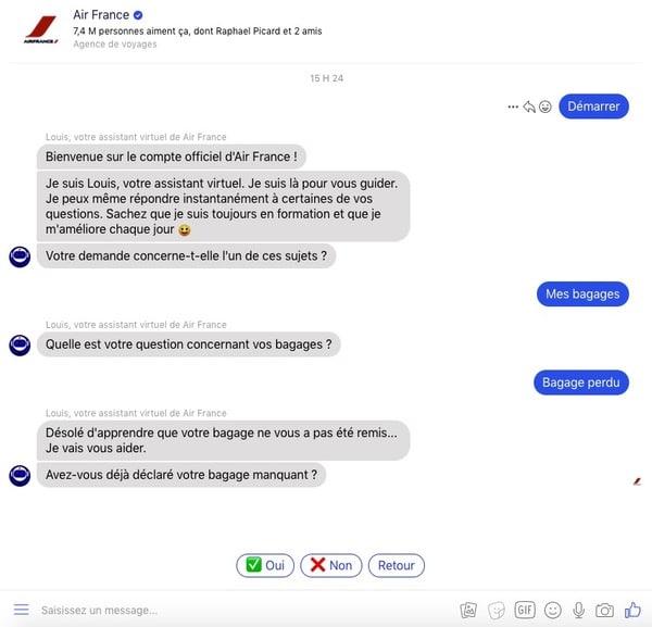 Service client autonome