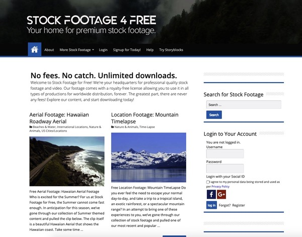 Stock footage for Free videos