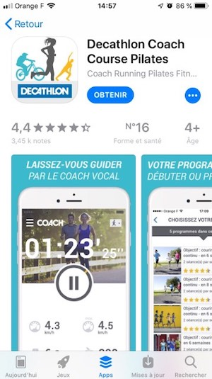 Application mobile Decathlon