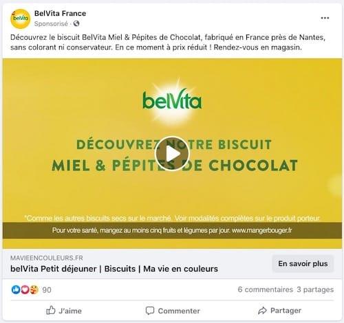 social media ads Belvita