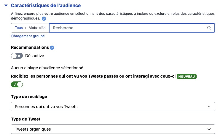Ciblage Twitter ads
