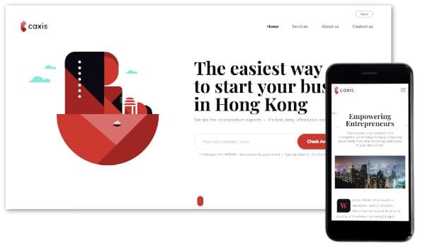 Site minimaliste responsive