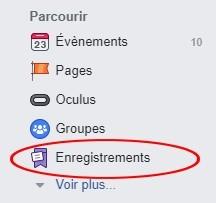 Enregistrement facebook