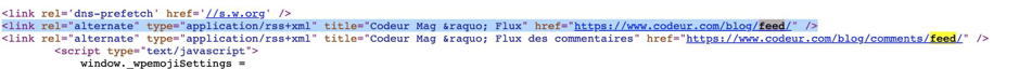 Flux RSS de Codeur Mag