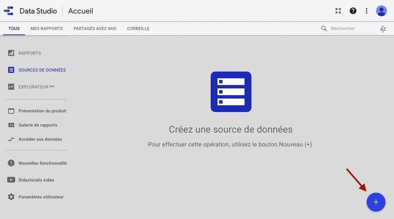 Sources de données Google Data Studio