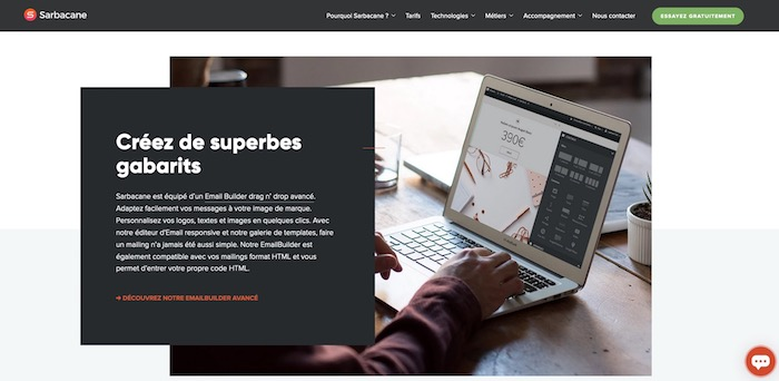 création templates email outil newsletters Sarbacane
