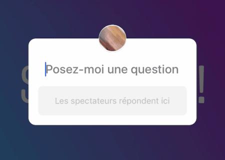 Instagram question libre