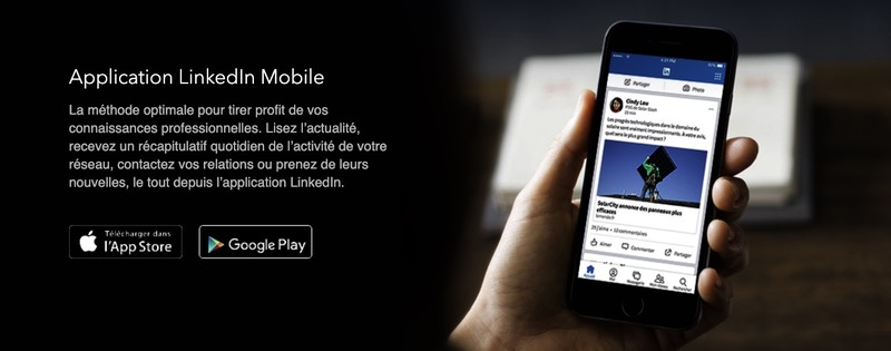 Application mobile LinkedIn
