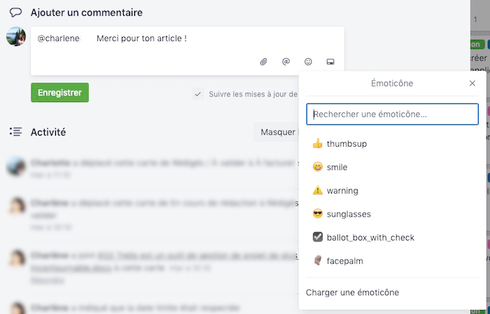 Emoticône Trello