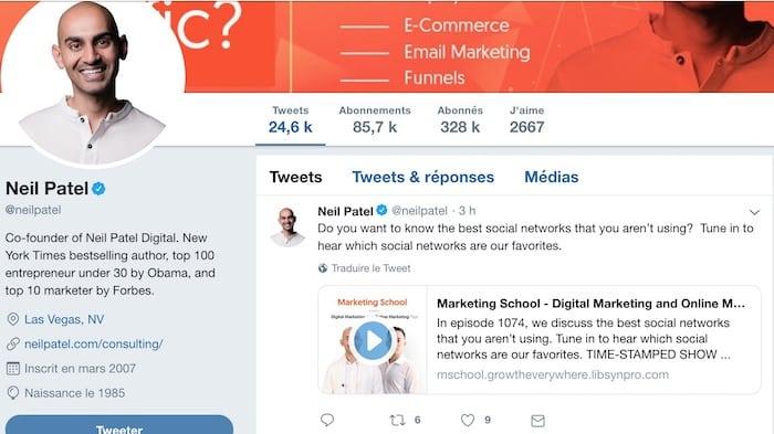 Personal branding Neil Patel
