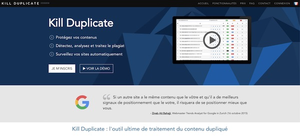Outil Duplicate Content Kill Duplicate
