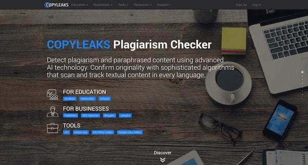 Outil Duplicate Content CopyLeaks