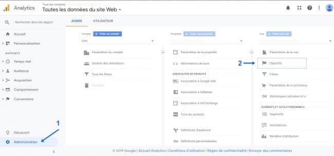 Google Analytics Objectifs Intellignents