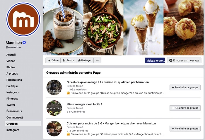 Groupe Facebook Marmiton