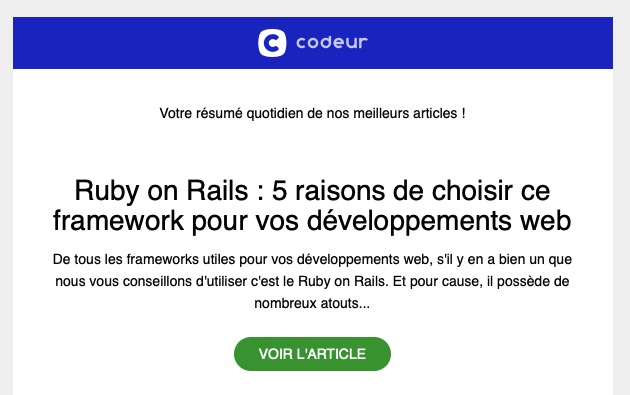 Newsletter RSS Codeur
