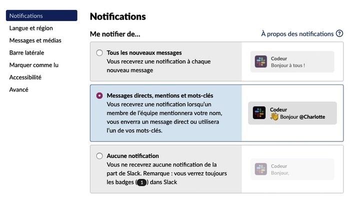 Notification Slack