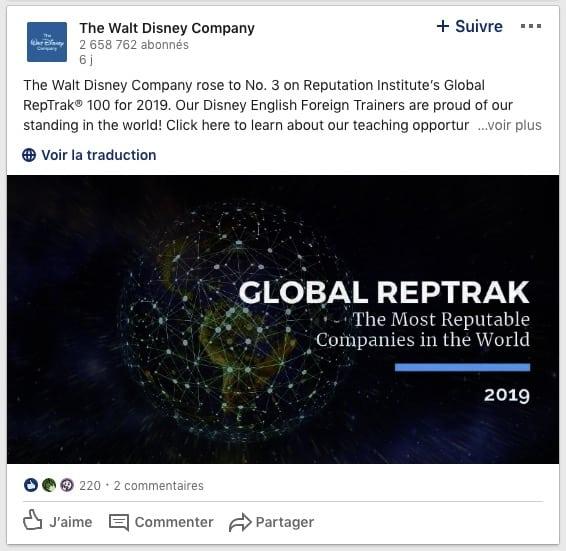 Réactions Walt Disney