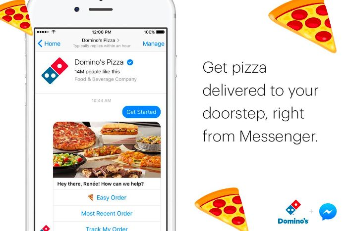 Chatbot domyno's pizza