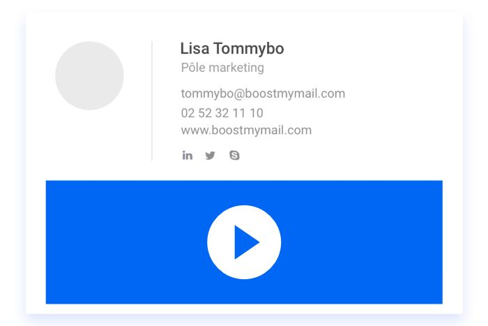 Signature email vidéo