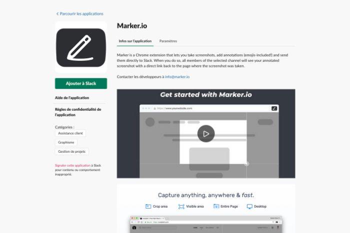 Application Maker pour Slack