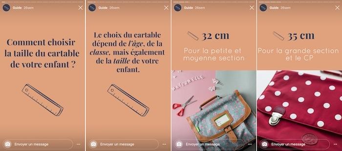 La Cartablerie story Instagram