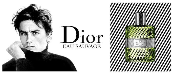 rétro marketing Eau Sauvage Dior et Alain Delon