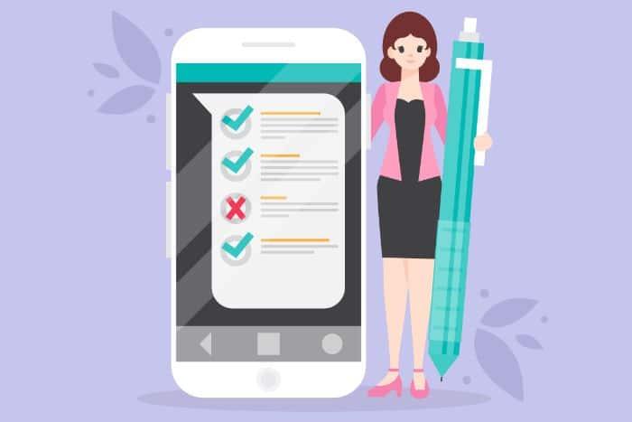 questionnaire mobile depuis SMS