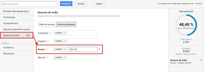 Supprimer dark trafic Google Analytics