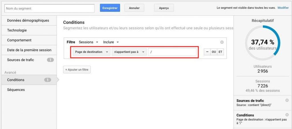 Dark trafic ne pas afficher Google Analytics