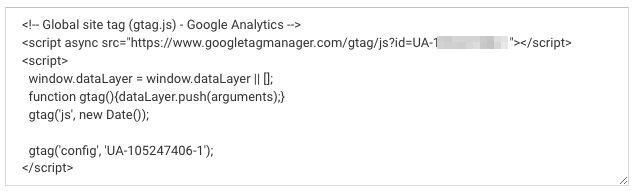 Tag suivi Google Analytics